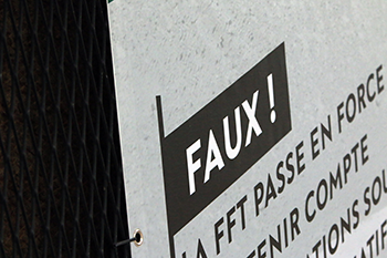 Sign Stating FAUX!